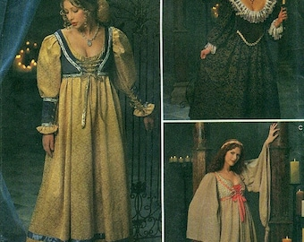 Simplicity 8192 ANDREA SCHEWE Medieval Gowns Pattern - also issued as Simplicity 0687 Renaissance Collection