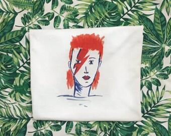 David Bowie Ziggy Stardust Illustrated T-Shirt