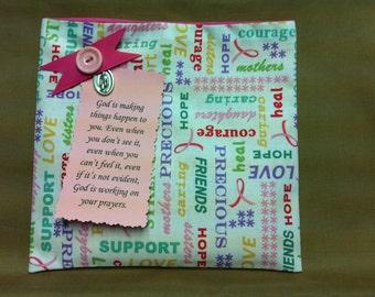 Breast Cancer Prayer Pocket #1