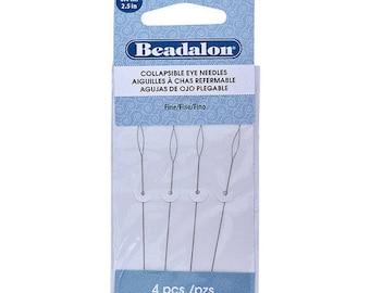 Beadalon Collapsible Eye Needles 2.5-Inch Fine 4 Pack 700F-102