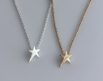 Dainty Star Necklace in Gold or Silver, Tiny Star, Small Star, Minimalist Jewelry, Layering Necklace, Gold Filled or Sterling Silver Chain