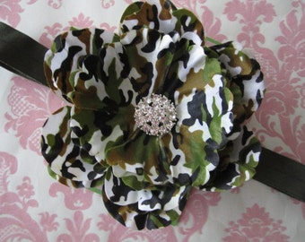 Baby headbands - infant headband - military headbands - girl headbands