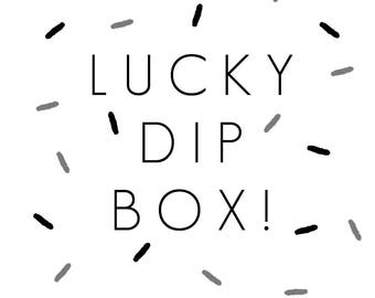 Lucky Dip Box Greeting Cards Cat Accessories Christmas Gift Stocking Filler Robin Pin Cute Animal Lover Lucky Dip Bag Mystery Bag Lucky Dip