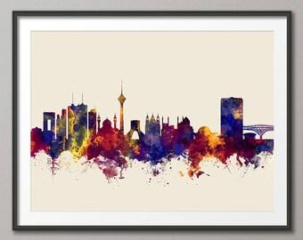Tehran Skyline, Tehran Cityscape Iran Art Print (2863)