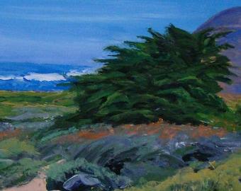 Big Sur Coastline Framed Original Painting