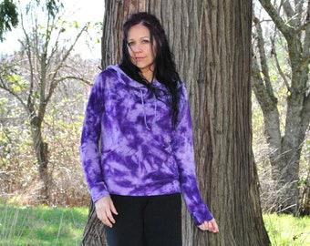 Organic Hoodie - Hand Dyed Bamboo Sweatshirt - Womens Hoodie - Gypsy Boho -  Festival and Street Wear