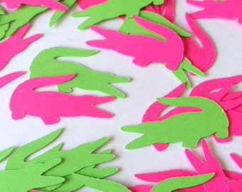 Alligator Confetti, Crocodile Confetti, Reptile Party Decor, Die Cut Kids Birthday Scrapbook Card Making, Creature Theme