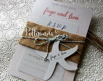 Beach Bundle Invitation Sample Bespoke and Personalised Any Colours