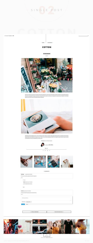 Baumwolle responsives Blogger-Vorlage Blogger-Vorlage