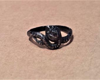 Vintage Silver Snake Ring