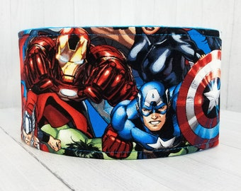 Male Dog Belly band - SHIPS IN 1 DAY- dog diaper - Washable & Reusable - Small to Large Sizes - Made from Marvel Avengers Fabric
