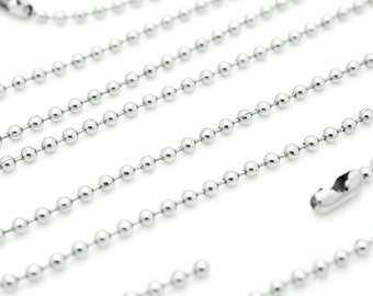 """100 pieces High Quality Stainless Steel Ball Chain Necklace - 30"""" - 2.4mm - Ball Chains"""