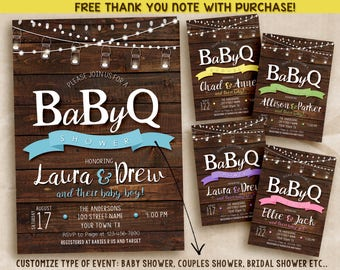 BABY Q Invitation / Baby Q Shower Invitation / BBQ Baby Shower / Digital / Printable