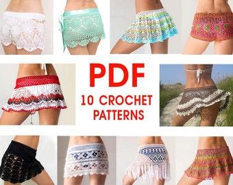 PDF ebook 10 patterns - for crochet skirts shorts.