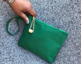Emerald Green Wristlet Clutch Purse (Jazz)