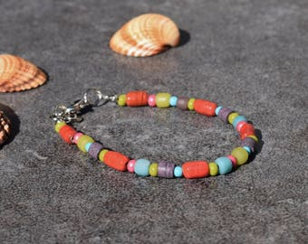 Colorful Bohemian Bracelet, Boho Jewelry, Southwestern Style Bracelet, Beaded Bracelet, Ibiza Gypsy Jewelry, Hippie Bracelet, Summer Jewelry