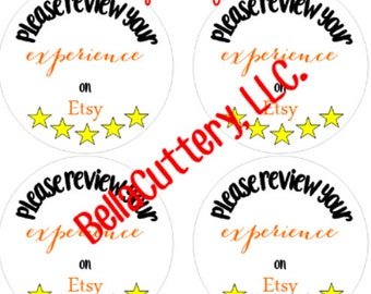Review Stickers - Shop Branding Items - Custom Labels - Shop Review Stickers - Store Stickers - Shipping Stickers - Digital Download
