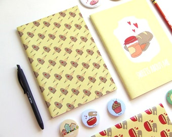 I Love Cooking - Blank A5 Notebooks - Journal