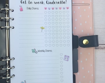 A5 Kawaii Planner Insert - Cleaning Checklist