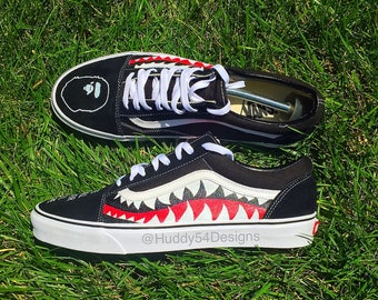 Shark Teeth Bape Vans