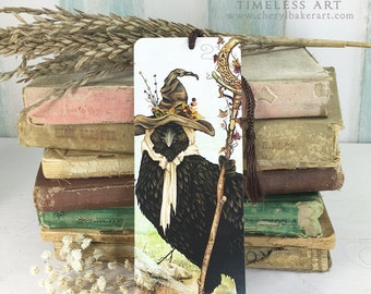 Crow Bookmarks - Bookmarker - Bookmarking - Bookmarks for Books - Book Mark - Reading Bookmark - Book Mark Bookmark - Book Art - Teachers