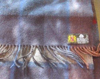 soft wool scarf germany plaid wool vintage scarf