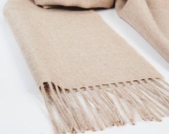 Camel women's scarf / women' scarf / beige wool scarf / women's shawl / gift for mom / warm wool scarf