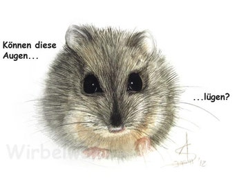 Motiv-Grußkarte Maus: Können diese Augen lügen? (14,9 x 10,5 cm) Klappkarte, ohne Text