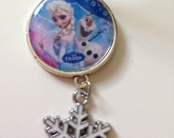Necklace girl Queen snow, Elsa, blue cord model 2