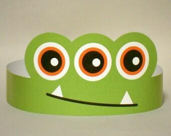 3-Eyed Monster Paper Crown - Printable