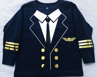 Pilot T-Shirt Long sleeve - Toddler, Costume, Halloowen, Dress up