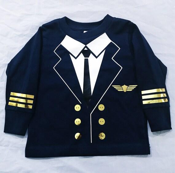 Pilot T-Shirt Long sleeve - Toddler, Costume, Halloowen, Dress up