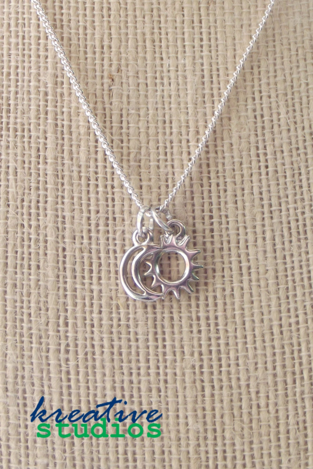 Celestial dainty charm necklaces eclipse sun moon star zoom mozeypictures Gallery