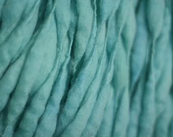 Handspun Merino Wool Thick and Thin Yarn Slub  tts(tm) Merino Hand dyed Two-Pounder Bahamas Extra Super Bulky