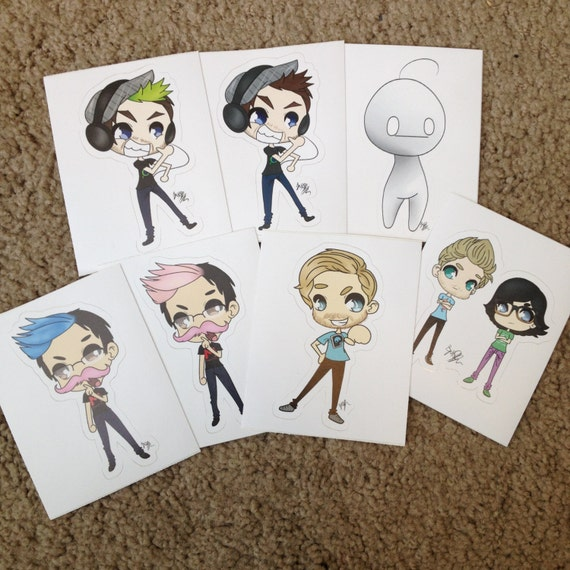 Famous Youtuber Stickers jacksepticeye Rhett and Link WJ27