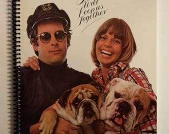 Captain and Tenille Sketchbook Hand Made from Upcycled Vinyl Record Album Cover