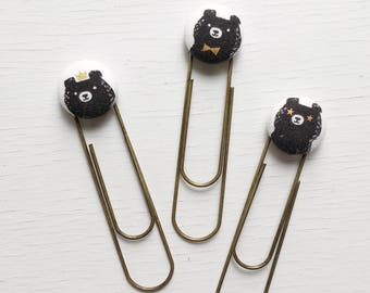Bookmarks/Planner Clips// Bear Hug by Sarah Watts