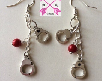 50 Shades of Grey inspired handcuff earrings, Handcuff earrings, Fifty Shades of Grey inspired earrings,