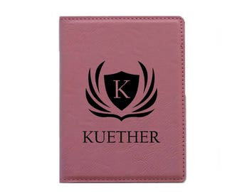 Passport Cover Passport Holder Personalized (Pink-Design 1)