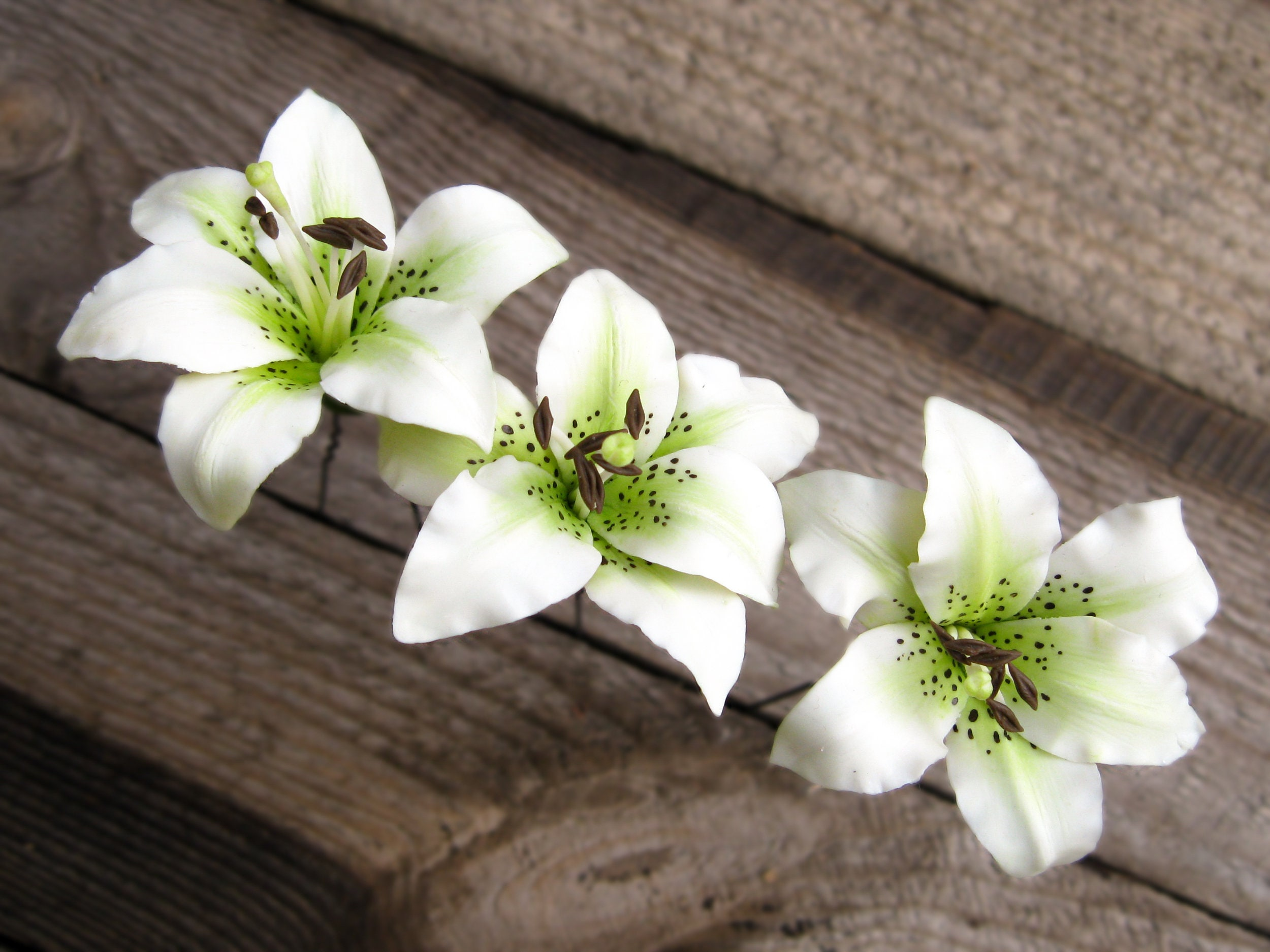White Flower Hair Pin Nature Hair Pin Woodland Wedding Hair