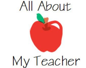 Printable Teacher Interview / Questionnaire : Teacher Appreciation Gift