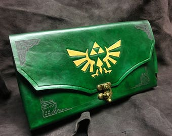 Nintendo Switch Case -  Leather Zelda themed Nintendo Switch carrying case