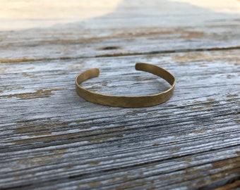 Bronze hammered cuff