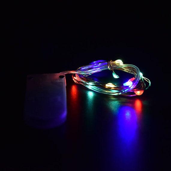 multi color fairy lights led string light button cell battery. Black Bedroom Furniture Sets. Home Design Ideas