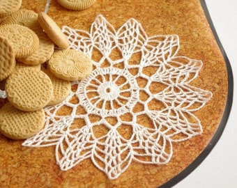 Crochet doily Small doily Lace doilie Small crochet doilies Crocheted doilies lace Home decor 249