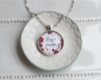 Blessed grandma necklace - blessed grandmom necklace - gift for grandma - blessed grandmother - grandma gift - Mother's Day gift for grandma