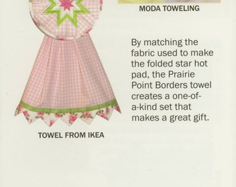 Prairie Point Borders Dish Towel Pattern by Plum Easy Patterns (PEP-103)