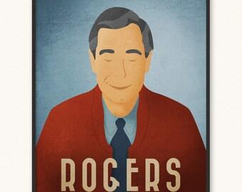 Mister Rogers • Giclée Art Print • Minimalist Portrait Poster • Choose Style • Imagination