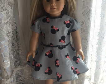 Minnie Mouse dress for 18 inch dolls