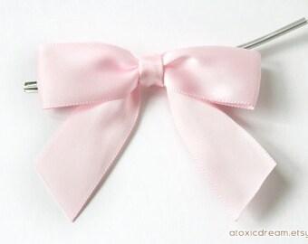 12 glaçons rose noeud pré-faites embellissements